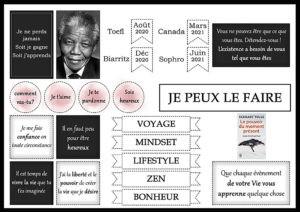 Tableau de Visualisation élégant et minimaliste, citation de Nelson Mandela