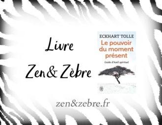 Chronique du livre d'Eckhart Tolle, Le pouvoir du moment présent , sur le site zen et zèbre