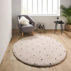 Coin de retour au calme pour les enfants en colère ou triste- tapis berbère blanc points noirs la redoute
