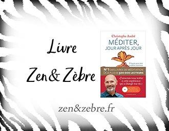 Chronique du livre Méditer jour après jour de Christophe André - livre pratique de développement personnel par Zen et Zèbre