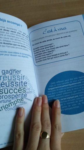 Page du livre Réussir grâce au tableau de visualisation d'Audrey Janvier