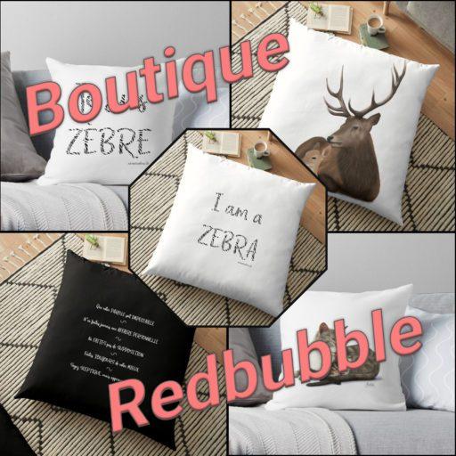 Boutique Redbubble, des produits Zen et Zèbre à shopper pour les hypersensibles et haut potentiel - vêtement, déco, papeterie