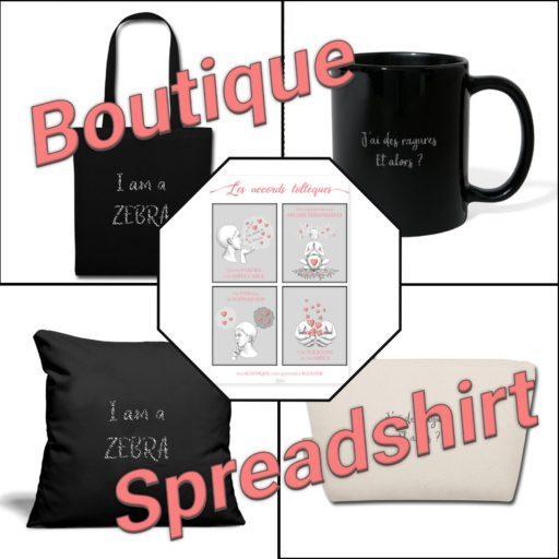 Boutique Spreashirt, des produits Zen et Zèbre à shopper pour les hypersensibles et haut potentiel - vêtement, déco, papeterie