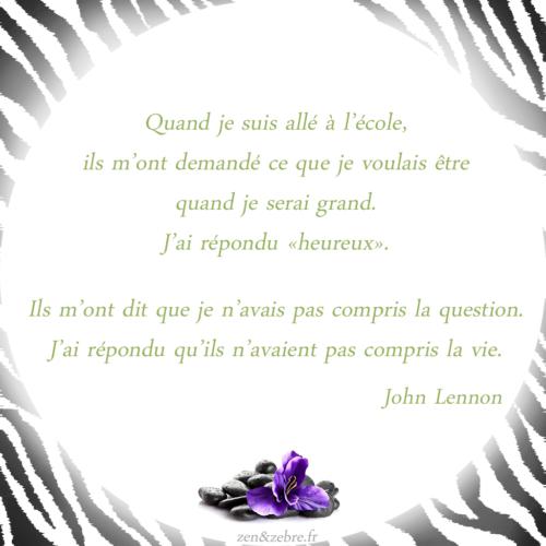 Citation Zen & Zèbre